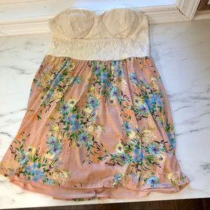 Charlotte Russe Floral Tube Dress Size XL